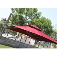 Quality 2.5m Mini Roma Cantilever Garden Umbrella With Marble Base , Red Double Layer for sale