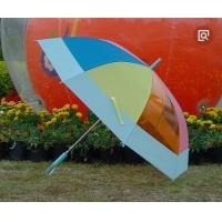 Quality Off Set See Through Umbrella , Ladies Rainbow Bubble Umbrella Automatic Open for sale