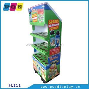 Quality 1/4 cardboard pallet floor display shelf for bottles-FL111 for sale