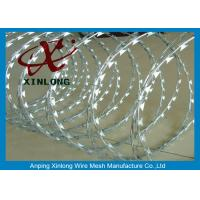 Quality Concertina Galvanized Razor Barbed Wire For Highway / Farm / Garden for sale