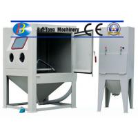 CE Certified Sand Blasting Unit , Manual Sandblast Cabinet Customized Fixed Turntable