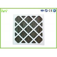 Quality Folded Activated Carbon Air Filter High Carbon Content With Aluminum Mesh Face Guard for sale