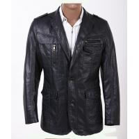 Buy Two Buttons Custom Smart Designer and Fashionable, Plus Size Mens PU Leather Blazers at wholesale prices