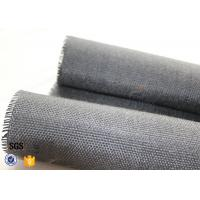 Quality 800g Black Vermiculite Coated Fiberglass Fabric For Fire Blanket for sale