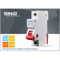 Quality IEC 60898 1P 6A 230/400V 50HZ high breaking capacity to 10000 /CE certificate mini circuit breaker for sale