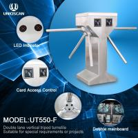 Buy Vertical Tripod Access Control Turnstile Gate Double Lane For Special Requirements at wholesale prices
