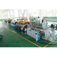 Quality PE Double Wall Corrugated Pipe Double Screw Extruder / Pvc Pipe Making Machine for sale