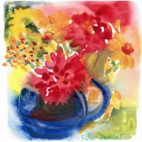Quality flower painting office wall art for sale