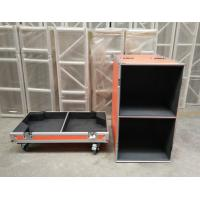 Quality Orange Speaker Audio Road Aluminum Tool Cases with 9mm Thickness Fireproof Plywood Board for sale