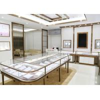 Quality Luxury Design Showroom Display Cases Eco - Friendly Material Covered With Glass Panels for sale