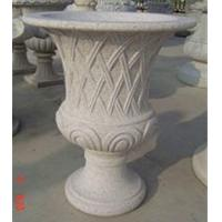 Quality Curved garden decoration stone flower pots  for sale