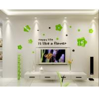 Quality Kids bedroom decoration wall sticker acrylic removable decal flower for sale