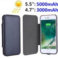 China Luxury Solar Panel Power Case For iPhone 7 Plus 6s Battery Backup Charging Cover on sale