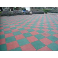 China Primary Schools Playground Safety Surface Rubber Tiles High Density Durable Mat on sale