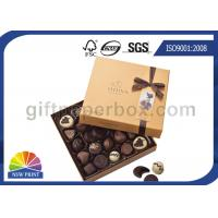 Quality High End Chocolate Packaging Box with Ribbon for Valentine's Day Gifts Packaging for sale