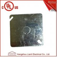Electrical Square Conduit Box Cover UL Listed File Number E349123 With Knockout