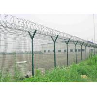 Quality Y Post 3D Curved Airport Security Fencing , Welded Wire Mesh Fence Panels for sale