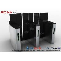 Quality Access Control Turnstile Security Gates Tempered Glass Sliding Material for sale