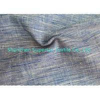 Quality Cotton Soft Linen Fabric Wholesale 2 Tone Slub In Yarn Dyed 220GSM for sale