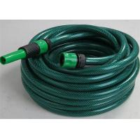 China PVC Garden Hose Pipe Fiber Braided Reinforced With Plastic Connector Fittings on sale