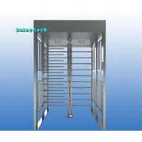 Quality Electromagnet Lock Full Height Turnstile Gate Bi Directional Semi Automatic Type for sale