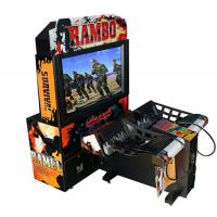 Quality Rambo Electronic Coin Operated Indoor Arcade Video Simulator Gun Shoot Game Machine with 2 players for sale