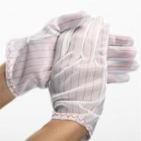 Quality 100% polyester fabric ESD Stripped Glove for sale