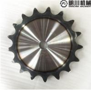China Hardened Teeth Plate Wheel Sprockets / Chain Idler Sprocket 40 - 55HRC 45C Steel 24A17 on sale