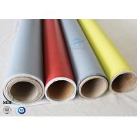 Quality 260℃ Fire Protection 0.45mm E-glass Silicone Coated Fiberglass Fabric Satin Weave for sale