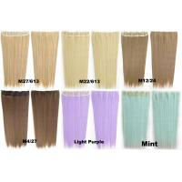Quality Synthetic Blonde Hair Extensions Korean Straight Human Hair Weave for sale