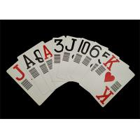 Quality Plastic PVC Waterproof Casino Standard Playing Cards Custom Offset Printing for sale