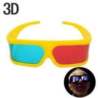 Quality Cute girl's yellow frame Anaglyphic 3D Glasses ,red cyan refraction depth lenses glasses for sale