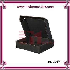 Quality Black Paper Corrugated Carton Boxes ME-CU011 for sale