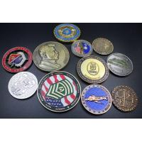 Buy cheap 2015 Hot selling OEM custom engraved metal stamping silver coins customized from wholesalers