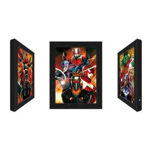 Quality Outdoor LED 3D Lenticular Pictures With Marvel Movie Character for sale