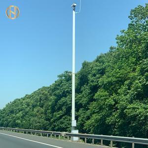 Quality High Durability CCTV Camera Pole , Octagonal Surveillance Camera Pole for sale