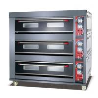 Buy Large Capacity Gas Deck Oven LPG Gas Type Front Stainless Steel 3 Deck 9 Trays at wholesale prices