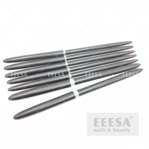 Quality 7Pcs Black Kolinsky Sable Hair Aqua Aquarelle Personaliz Dental Nail Art Brush Set for sale