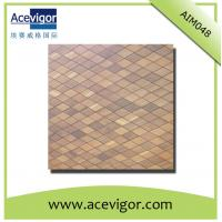 Quality Wood mosaic wall tiles with rhombic shape for sale