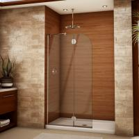 Quality Modern tempered glass white line glass Shower Room compact shower enclosure for sale