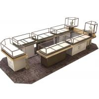 Quality Custom Shopping Mall Jewelry Display Counter / Shop Display Cabinets for sale
