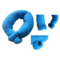 Buy Pink deep blue Coral Electric Massage Pillow fleece + latex  Neck Pillow at wholesale prices