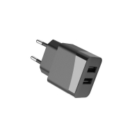 Quality Fireproof PC ErP 12W 5V2.4A Dual Ports European USB Charger for sale