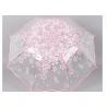 Buy cheap Creative cherry blossom Transparent Rain Umbrella 3 fold female art fresh and from wholesalers