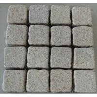Quality White, Light Yellow Granite Pavers, Sideway Granite Yellow Paving Stone for sale