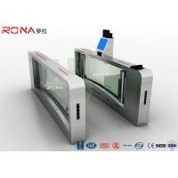 Quality High Speed Facial Recognition Turnstile Customizable Double Barrier Swing Gate for sale