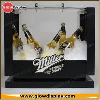 China Commercial Beer Acrylic Ice Bucket Liquor Bottle Stand With Advertising Graphic on sale