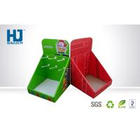 China Custom Printed Counter Cardboard Display Box with Hook Red , Packaging Cardboard Boxes on sale