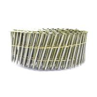 Quality Q235 Round Head 15 Degree Wire Collated Pallet Coil Nails Diamond Point Available for sale