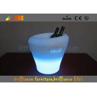 Quality 29X29X30cm Plastic Waterproof Mini LED Champagne Ice Bucket With 16 Colors Changing for sale